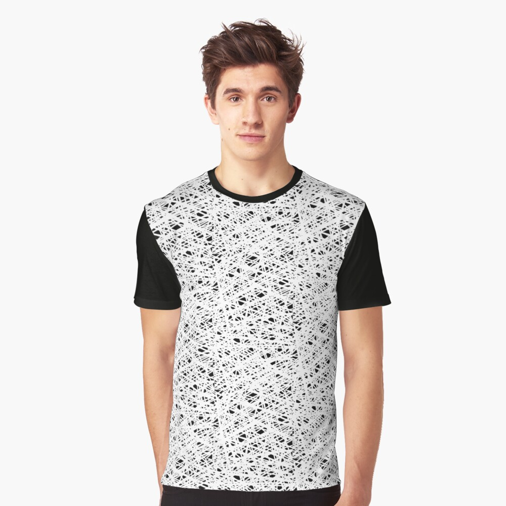 Scribble Web Graphic T-Shirt Front