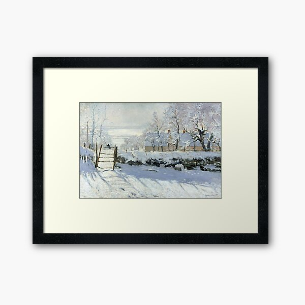 The Magpie by Monet Framed Art Print