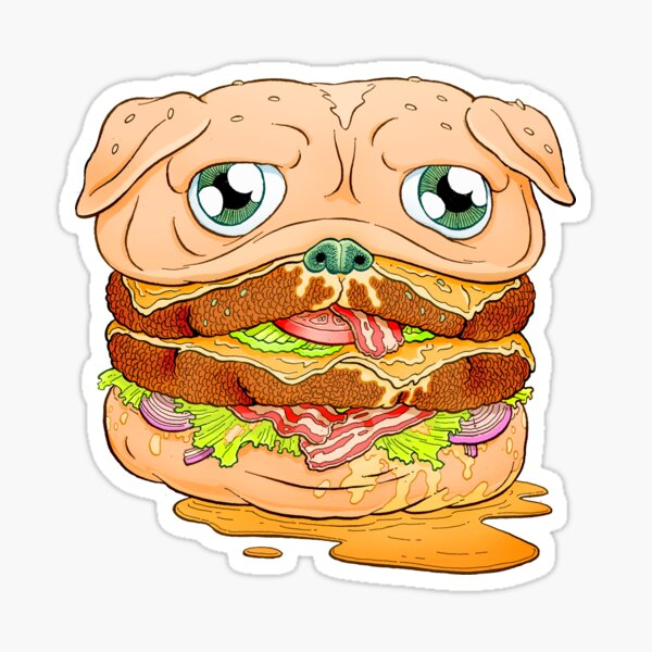 WELCOME TO PUG BURGER Sticker