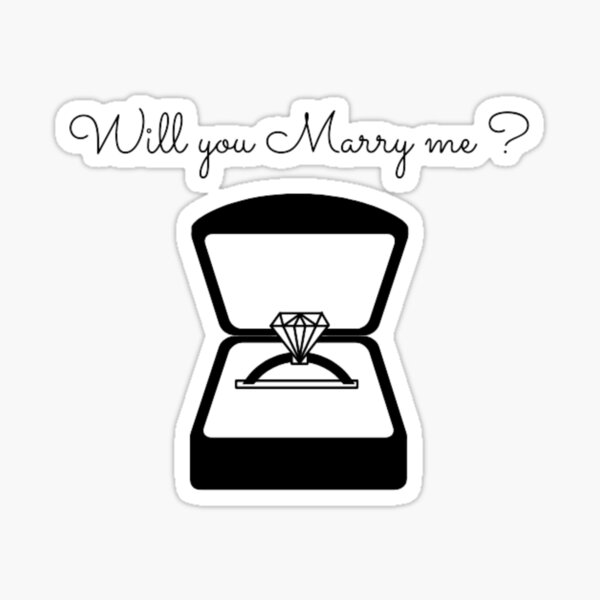 Will you Marry me - Proposal Design idea , marriage , proposal , wedding  Sticker