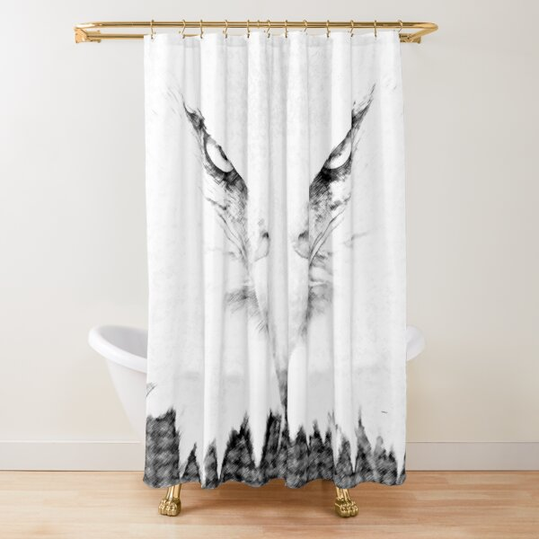eagle in charcoal by dePace' Shower Curtain