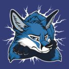 STUCK - Blue Fox / Fuchs (dark backgrounds) by tanidareal