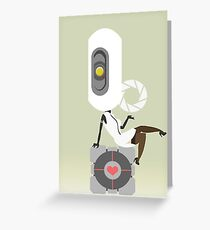 glaDOS+companion cube Greeting Card