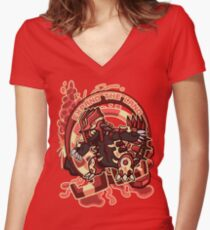 Expand The Land Women's Fitted V-Neck T-Shirt