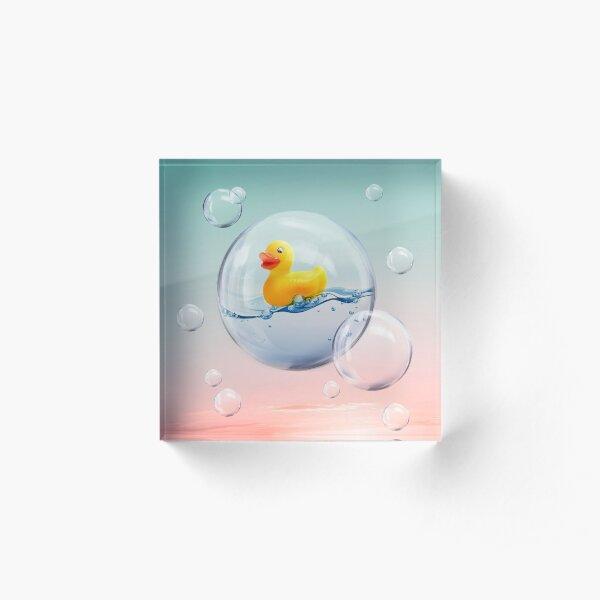The Bubble Ducky Acrylic Block