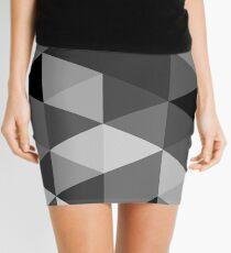 Grey scale triangle pattern Mini Skirt