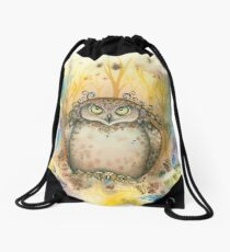 Hootie the Angry Owl Drawstring Bag