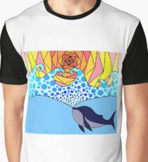 whale creating the sea Graphic T-Shirt