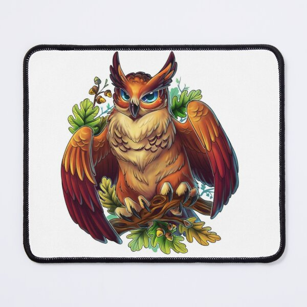 Scary Owl Dad Mouse Pad