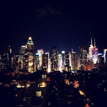 New York City By Night by georginho