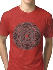 Black & White Mandala Tri-blend T-Shirt