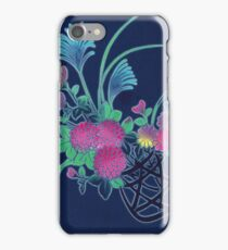 japanese fabric 1 - scanogram iPhone Case/Skin