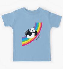 Happy Rainbow Panda Kids Tee