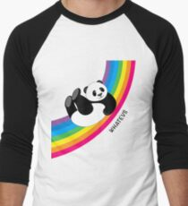 Happy Rainbow Panda Men's Baseball ¾ T-Shirt