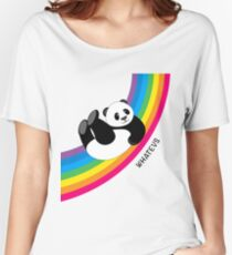 Happy Rainbow Panda Women's Relaxed Fit T-Shirt