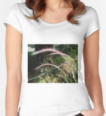 Purple Fountain Grass Women's Fitted Scoop T-Shirt