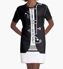 White Clarinet Graphic T-Shirt Dress