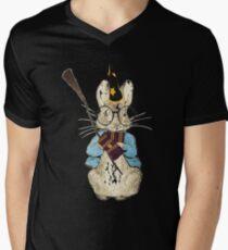 Potter Bunny Mens V-Neck T-Shirt