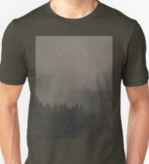 Autumn Moods aged Misty Forest nature photo T-Shirt
