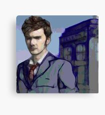 Doctor Who - Tenth Doctor Fan Art Canvas Print