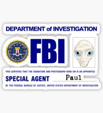 Paul the Alien's FBI ID Sticker