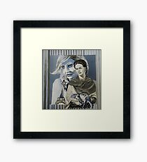 Mashup in Blue Framed Print