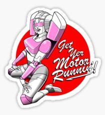 Get Yer Motor Runnin' Sticker