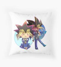 Yugi and Yami Throw Pillow