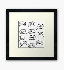 hello in different languages Framed Print