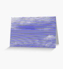 Cloud3frameD -L- White&Blue Greeting Card