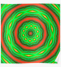 Green and orange abstract Poster