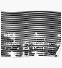 pic2line - Bridge in Amsterdam 2/3 Poster