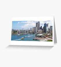 Sydney Harbour - Circular Quay Greeting Card