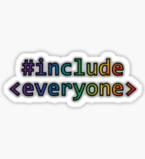 GEEKS FOR PEACE - #INCLUDE EVERYONE Sticker