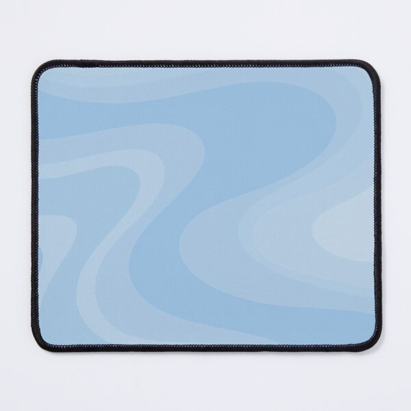 Retro Swirls in Powder Blue Abstract Pattern Mouse Pad