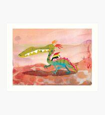 Childhood Dragons - the Chameleon Dragon Art Print