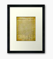 Declaration of Independence Framed Print