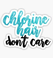 chlorine hair Sticker
