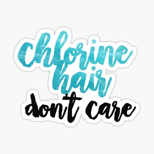 chlorine hair Sticker