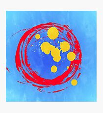 Abstract,hand painted, modern,strong colours,contemporary art Photographic Print