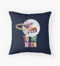 To The Moon! Throw Pillow