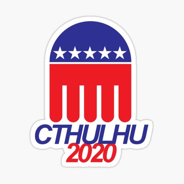 Cthulhu 2020 - ¿Por qué votar por el mal menor? Pegatina