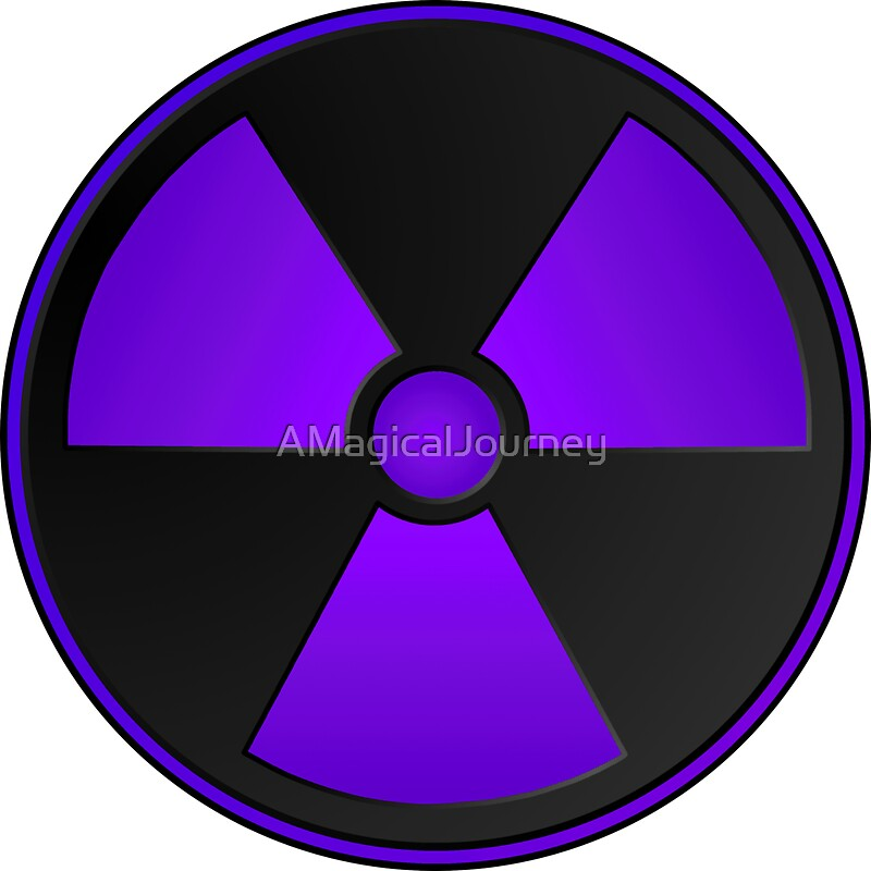 Purple Radioactive Symbol Stickers By Amagicaljourney Redbubble