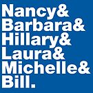 First Ladies Helvetica by fishbiscuit