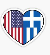 USA & Greece Sticker