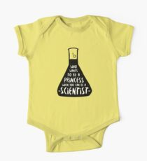 Who wants to be a princess when you can be a scientist Kids Clothes