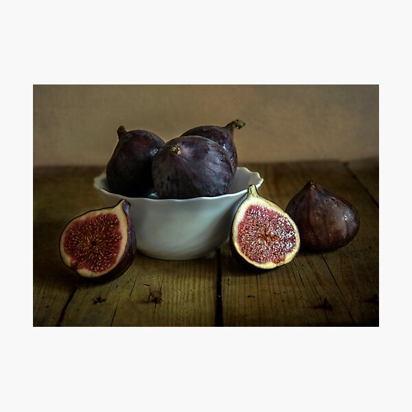 Still life with fresh figs Photographic Print