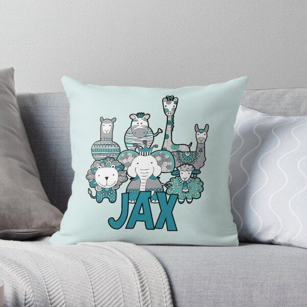 Doodle Critters Jax Throw Pillow