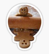 Cute food, gingerbread man Sticker