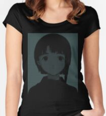 Lain ASCII - Inverted Women's Fitted Scoop T-Shirt